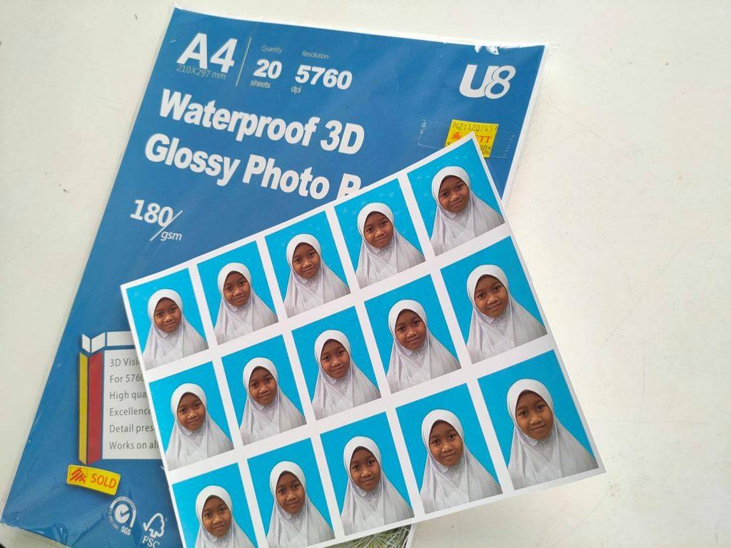 cara print gambar passport