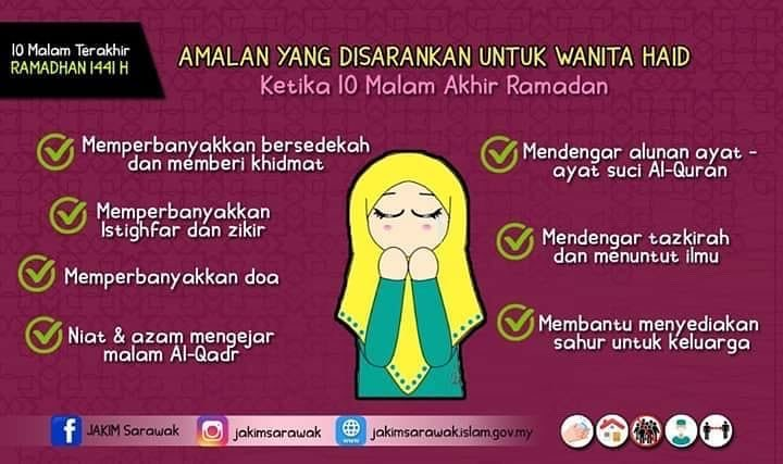 amalan wanita haid ramadan